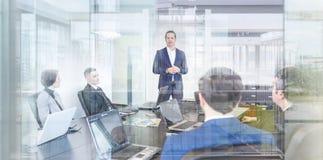 Reunião do escritório da equipe da empresa Imagem de Stock Royalty Free