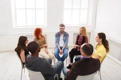 Reunião do grupo de apoio, espaço da cópia imagens de stock royalty free