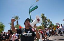 Reunião do protesto da imigração SB1070 do Arizona Fotos de Stock Royalty Free