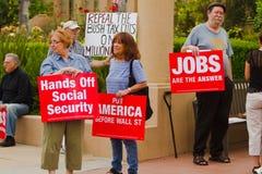 reunião do protesto de MoveOn.org Fotos de Stock Royalty Free