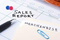 Reunião do relatório de vendas Fotografia de Stock