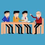 Reunião dos homens de negócios ilustração royalty free