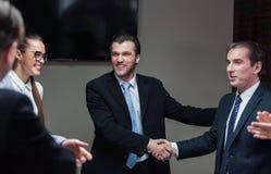 Reunião dos homens de negócios fotos de stock royalty free