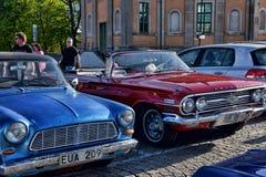 Reunião dos proprietários de carros retros Imagens de Stock Royalty Free