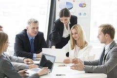 Reunião dos sócios comerciais Imagem de Stock