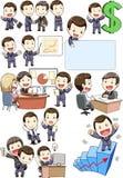 Reunião e sócios do homem de negócio Imagem de Stock