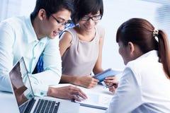 Reunião estratégica Foto de Stock Royalty Free
