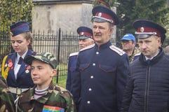 A reunião festiva de pode 9, 2017, na região de Kaluga de Rússia Fotografia de Stock