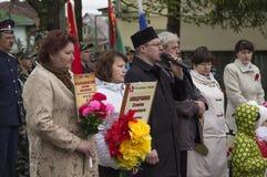 A reunião festiva de pode 9, 2017, na região de Kaluga de Rússia Fotos de Stock