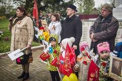 A reunião festiva de pode 9, 2017, na região de Kaluga de Rússia Imagem de Stock Royalty Free
