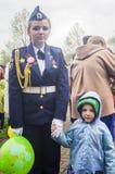 A reunião festiva de pode 9, 2017, na região de Kaluga de Rússia Imagem de Stock