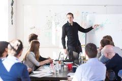 Reunião informal relaxado da equipe da empresa startup de negócio da TI Imagens de Stock
