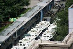 Reunião militar de Urumqi sobre o Anti-terrorismo Imagens de Stock