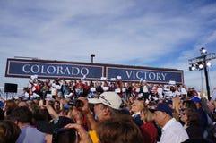 Reunião Mitt Romney de Paul Davis Ryan fotografia de stock
