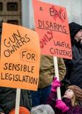 Reunião Montpelier Vermont dos direitos da arma. Imagem de Stock Royalty Free