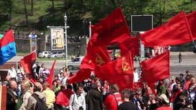 Reunião política comunista video estoque