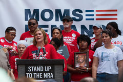 Reunião política Democrática do NRA de Georgia State Senator Speaks At anti Imagens de Stock