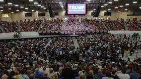 Reunião republicana da campanha de Donald Trump do candidato presidencial na arena & no casino sul do ponto em Las Vegas Fotografia de Stock