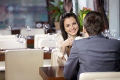 Reunião romântica Fotografia de Stock Royalty Free
