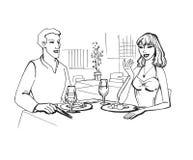 Reunião romântica Foto de Stock