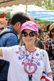 A reunião tailandesa do cidadão apoia Suthep Thaugsuban Imagens de Stock Royalty Free