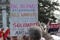 Reunião unida anti cidadãos Fotografia de Stock Royalty Free