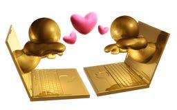 Reunião virtual datando em linha Fotos de Stock