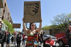 Reunión anti de la OGM. Fotos de archivo libres de regalías