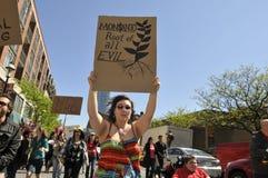 Reunión anti de la OGM. Imagenes de archivo