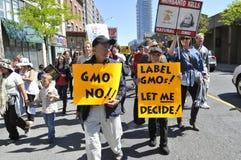 Reunión anti de la OGM. Fotografía de archivo