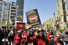 Reunión anti de la OGM. Fotos de archivo