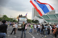 Reunión antigubernamental en Bangkok Imágenes de archivo libres de regalías