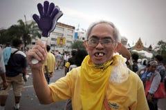 Reunión antigubernamental en Bangkok Fotos de archivo libres de regalías