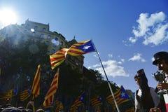 Reunión catalana de la independencia en Barcelona, España Fotos de archivo libres de regalías