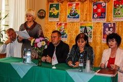 Reunión conjunta de los trabajadores del personal médico y de la emergencia de la República de Belarús en la región de Gomel Fotografía de archivo libre de regalías