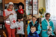 Reunión conjunta de los trabajadores del personal médico y de la emergencia de la República de Belarús en la región de Gomel Imágenes de archivo libres de regalías