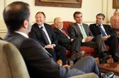 Reunión Consejo del Banco Central con la Comisión de Hacienda del Senado Stock Image