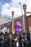 Reunión contra el BNP en Londres, 20 de junio de 2010 Imagen de archivo libre de regalías