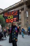 Reunión contra la detención y la tortura del niño Foto de archivo
