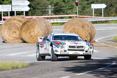 61 reunión Costa Brava. Campeón de FIA European Historic Sporting Rally Fotos de archivo