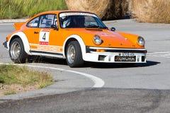 61 reunión Costa Brava. Campeón de FIA European Historic Sporting Rally Imagen de archivo libre de regalías