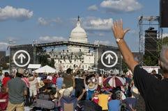 Reunión cristiana de TheCall en Washington DC Foto de archivo libre de regalías