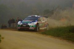 Reunión D'Italia Sardegna - AL QASSIMI de WRC 2011 Imágenes de archivo libres de regalías