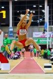 Reunión de interior del atletismo de Linz fotos de archivo libres de regalías