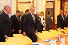 Reunión de jefes de los ministerios de los asuntos exteriores Imagen de archivo