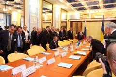 Reunión de jefes de los ministerios de los asuntos exteriores Imagen de archivo libre de regalías