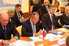 Reunión de jefes de los ministerios de los asuntos exteriores Foto de archivo