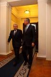 Reunión de jefes de los ministerios de los asuntos exteriores Foto de archivo libre de regalías