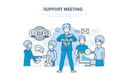 Reunión de la ayuda Comunicaciones, sociedad, trabajo en equipo, oficinistas de la colaboración, cooperación Imagenes de archivo