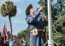 Reunión de la bandera confederada del SC Foto de archivo